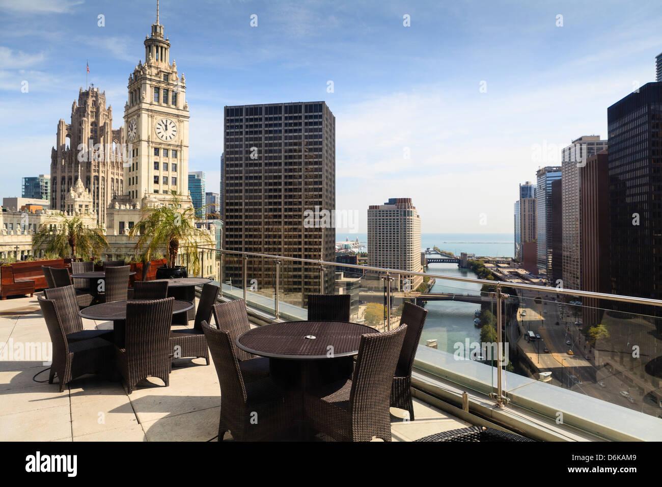 Vista da Trump Tower Hotel di Chicago, Illinois, Stati Uniti d'America, America del Nord Immagini Stock