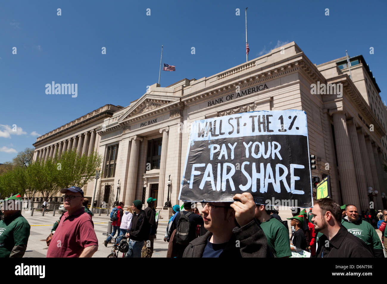Robin Hood Tax sostenitori rally a Washington DC Immagini Stock