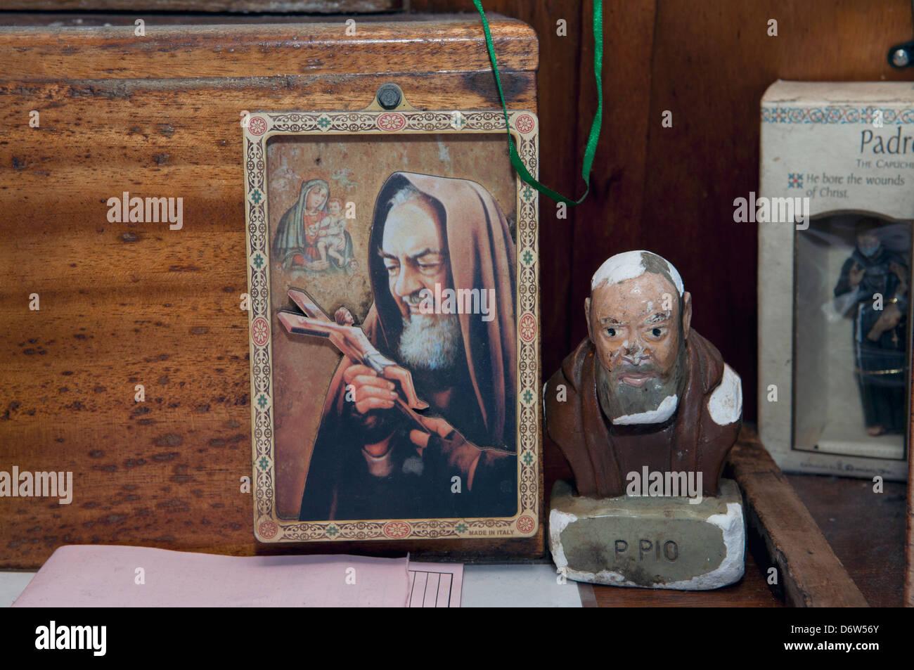 Padre Pio Santo di pescatori commerciali. Stellwagen banche, New England, Stati Uniti, Oceano Atlantico settentrionale Immagini Stock