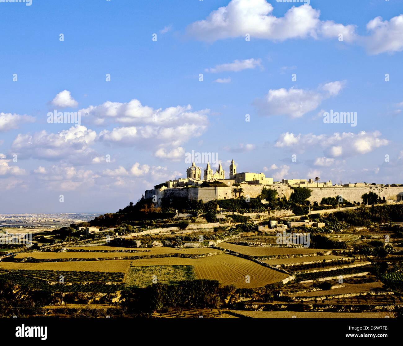 8453. Mdina (la città silenziosa), Malta, Europa Immagini Stock