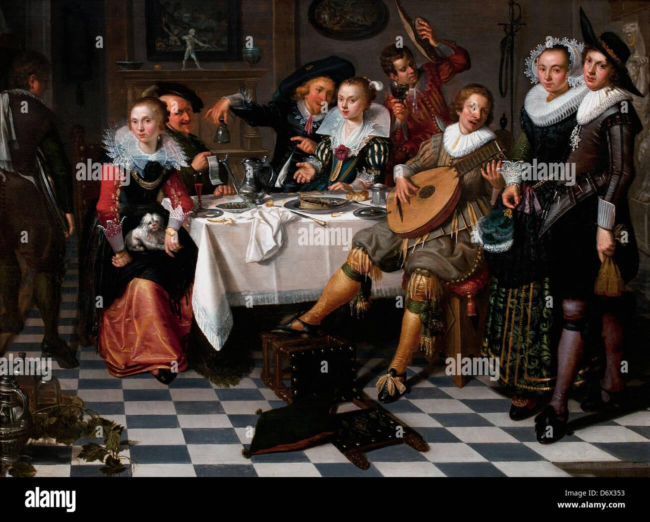 Mery Company 1629 Isack Elyas olandese Paesi Bassi Immagini Stock