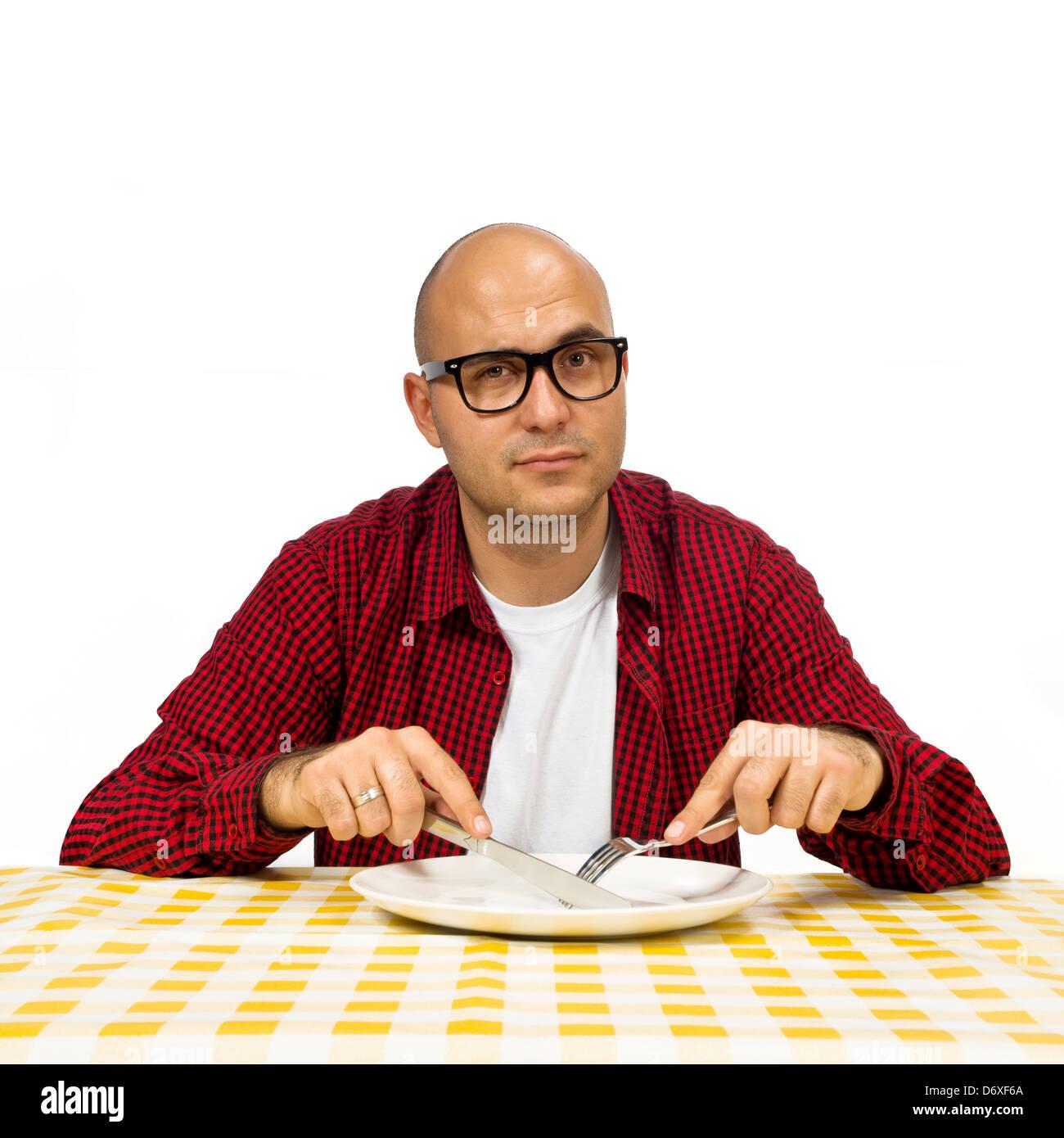 forchetta e coltello a tavola