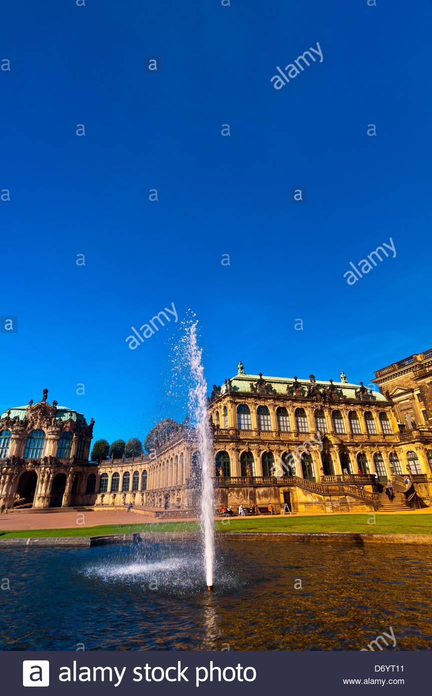 Lo Zwinger, Dresda, Sassonia, Germania Immagini Stock