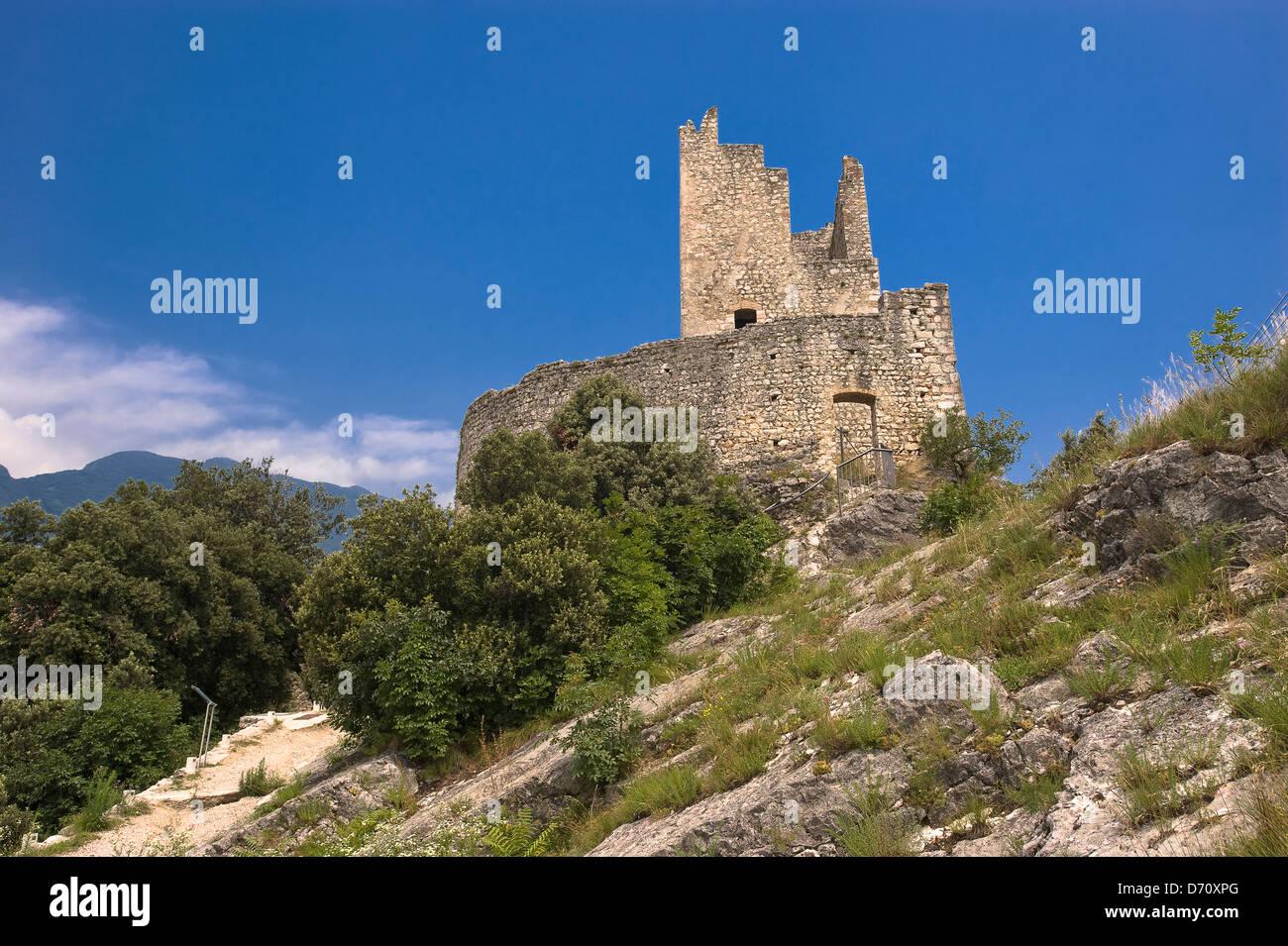 Europa Italia Trentino Alto Adige Arco il castello Torre Renghera Immagini Stock