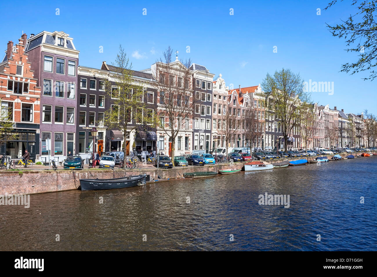 Amsterdam, Prinsengracht, North Holland, Paesi Bassi Immagini Stock