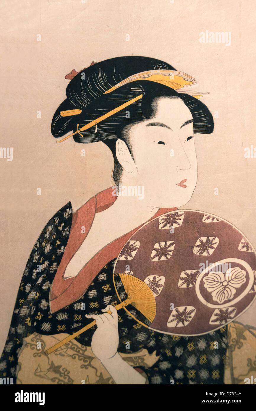 Ukiyo e il blocco di legno di stampe raffiguranti for Disegni tradizionali giapponesi
