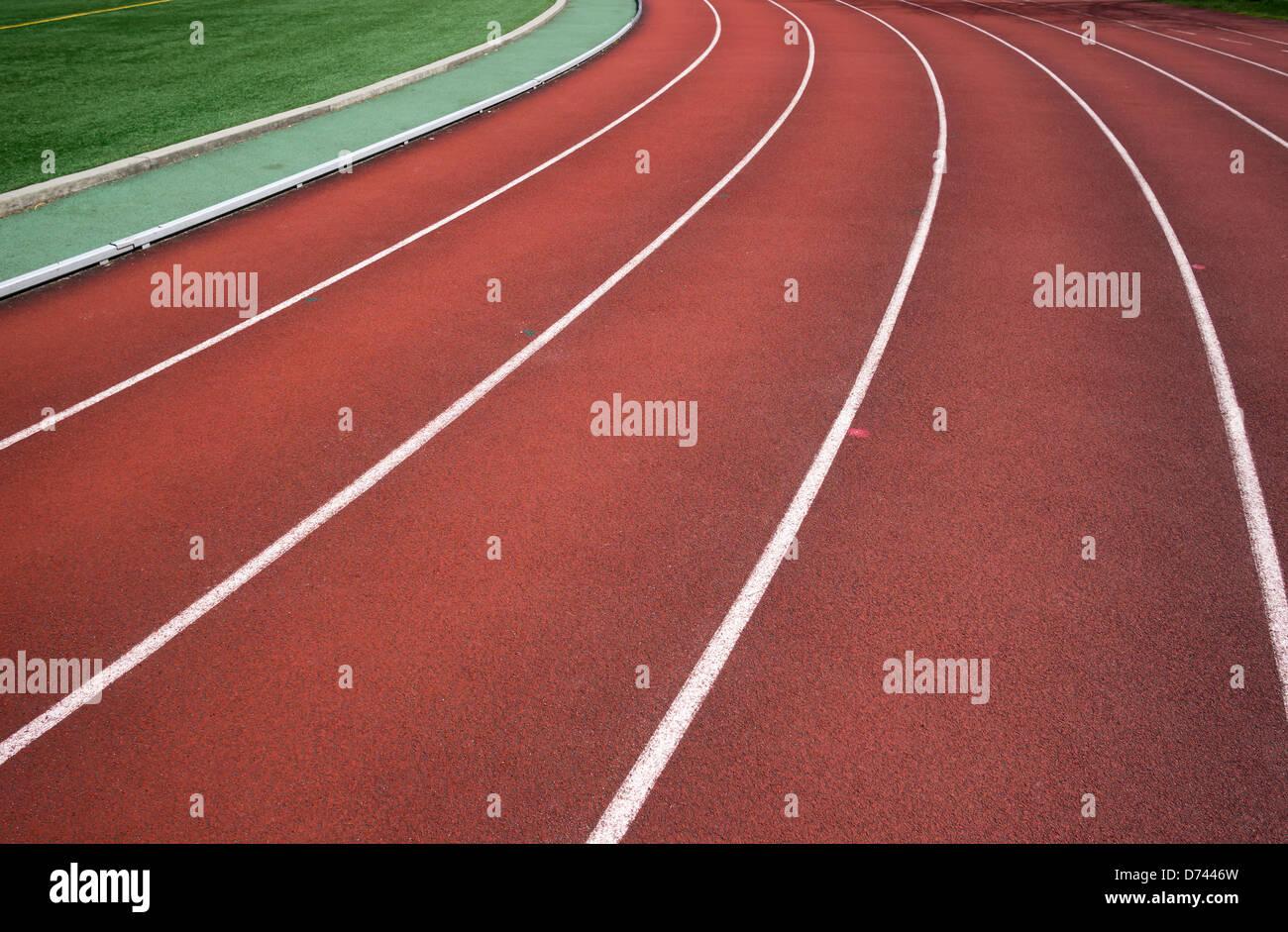 Pista di atletica leggera Immagini Stock