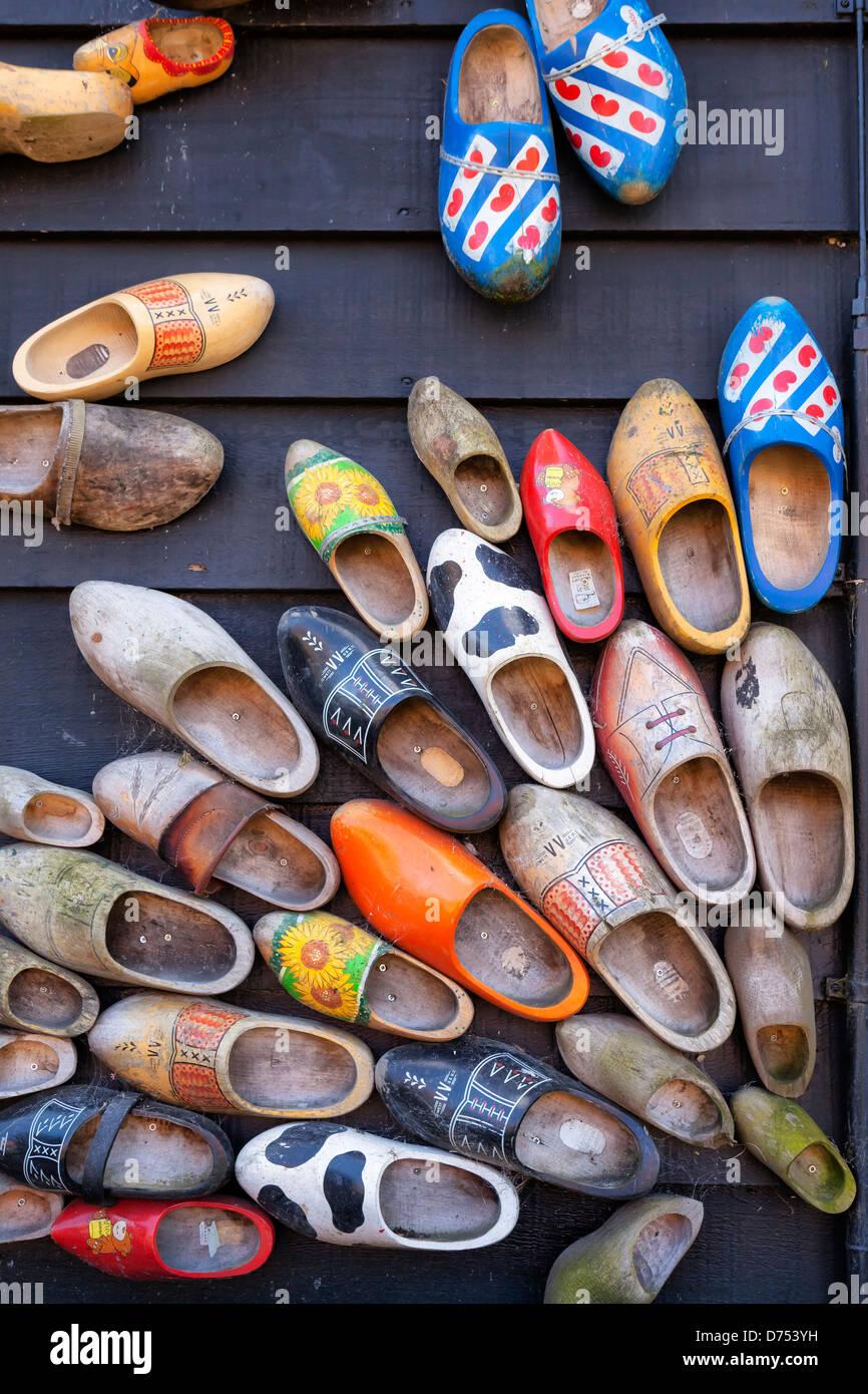 Old Dutch scarpe di legno Immagini Stock