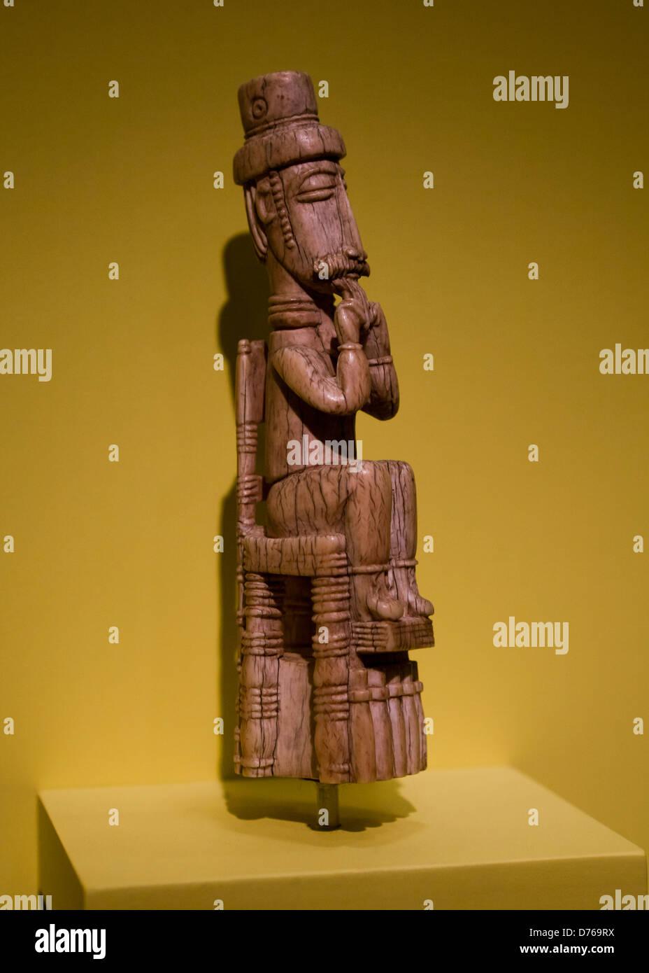 Avorio figura dal Attie (o) Akye popoli, Costa d'Avorio Immagini Stock