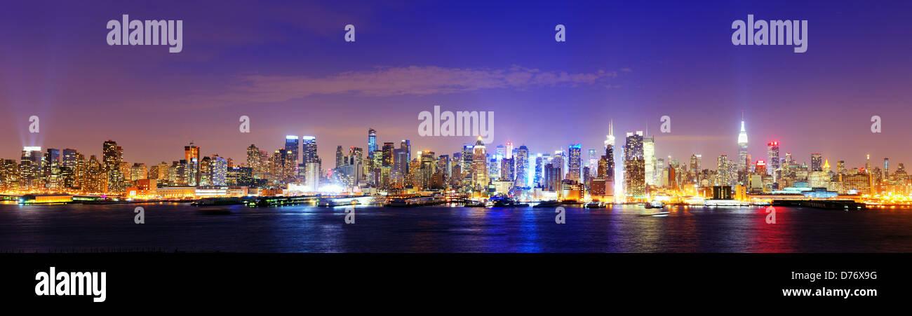 La città di New York il famoso skyline di Manhattan Immagini Stock