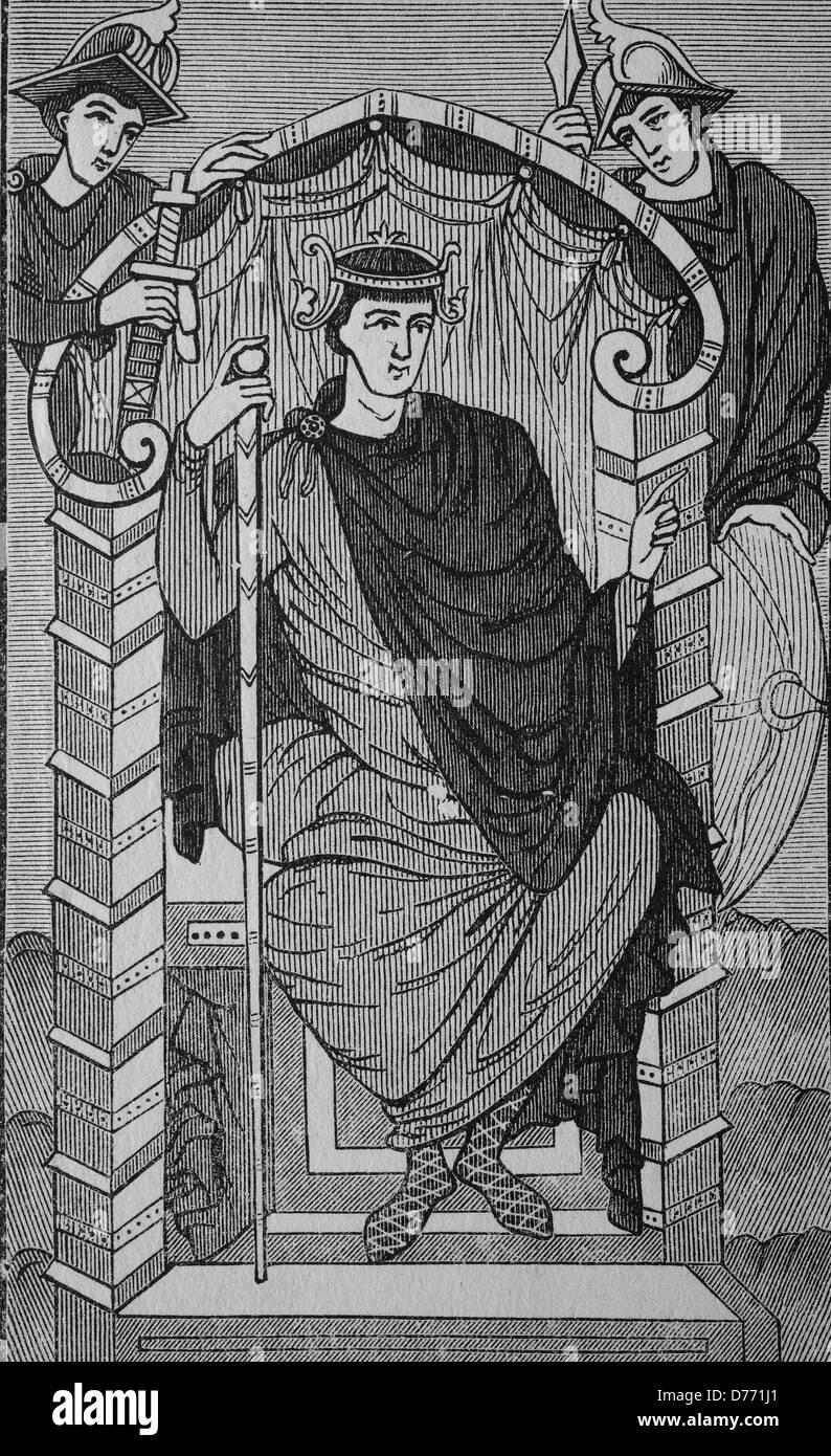Lothar I o Lothair I, 795-855, re di Baviera, Imperatore del Sacro Romano Impero, re dei Longobardi e medio Francia, Immagini Stock