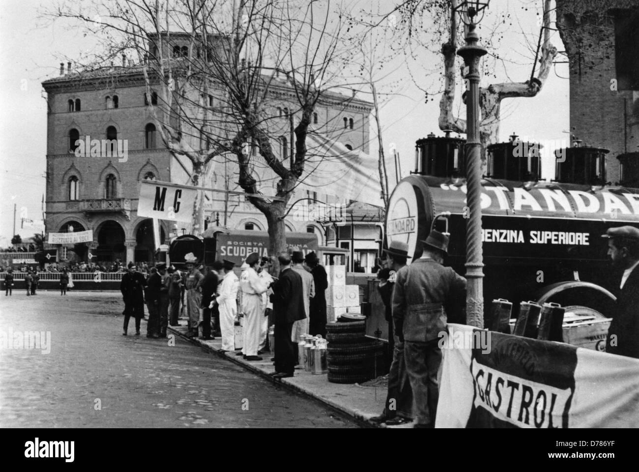 Mille Miglia 1933 Bologna Immagini Stock