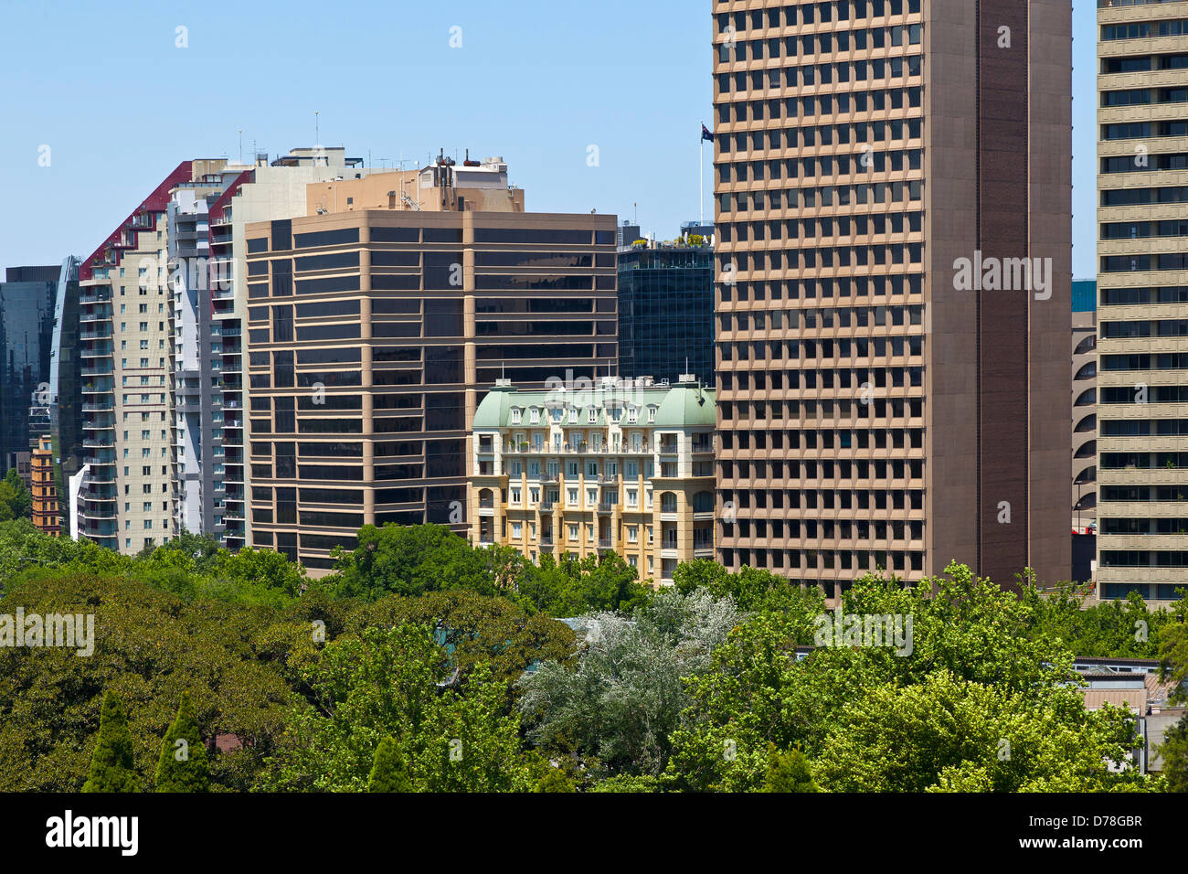 La vecchia e la nuova architettura in Melbourne, Australia Immagini Stock