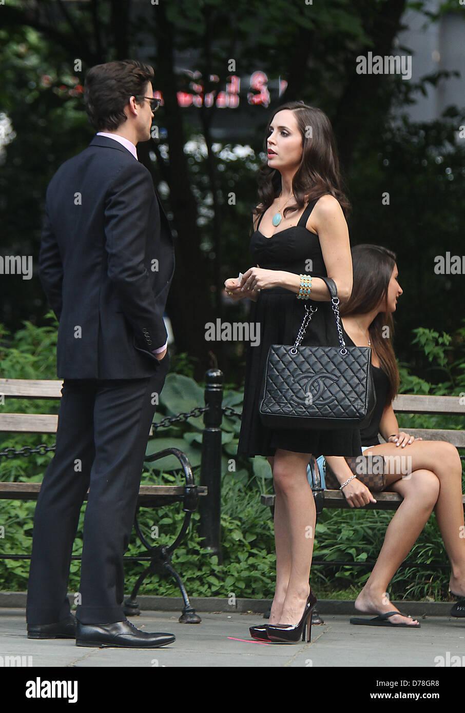 """Matt Bomer e Eliza Dushku sono visibili le riprese """"colletti bianchi"""" in New York City New York, Stati Immagini Stock"""