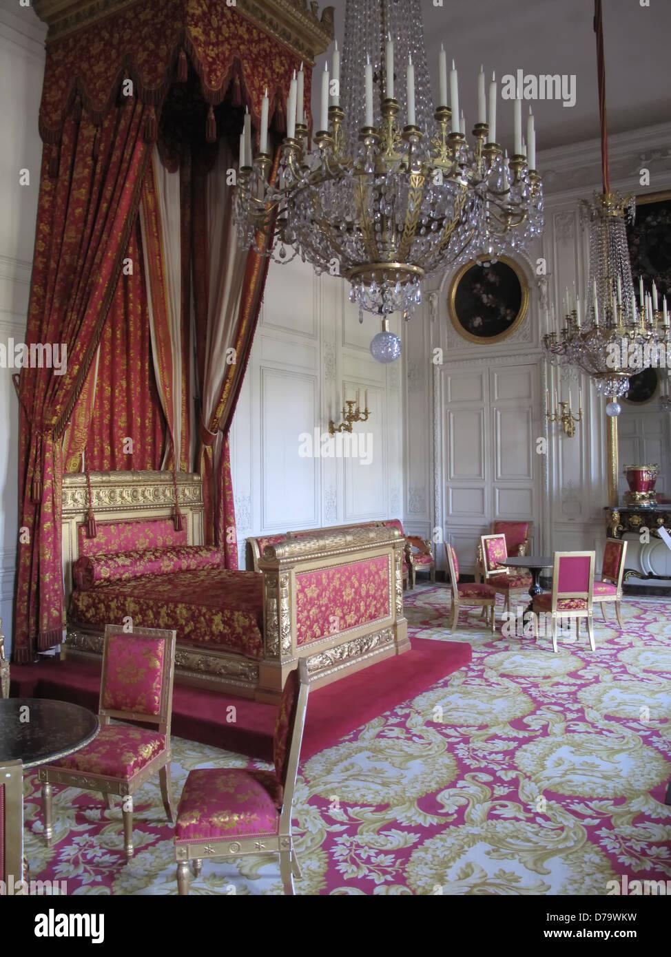 Una Sontuosa Stanza Da Letto All Interno Della Reggia Di Versailles Foto Stock Alamy