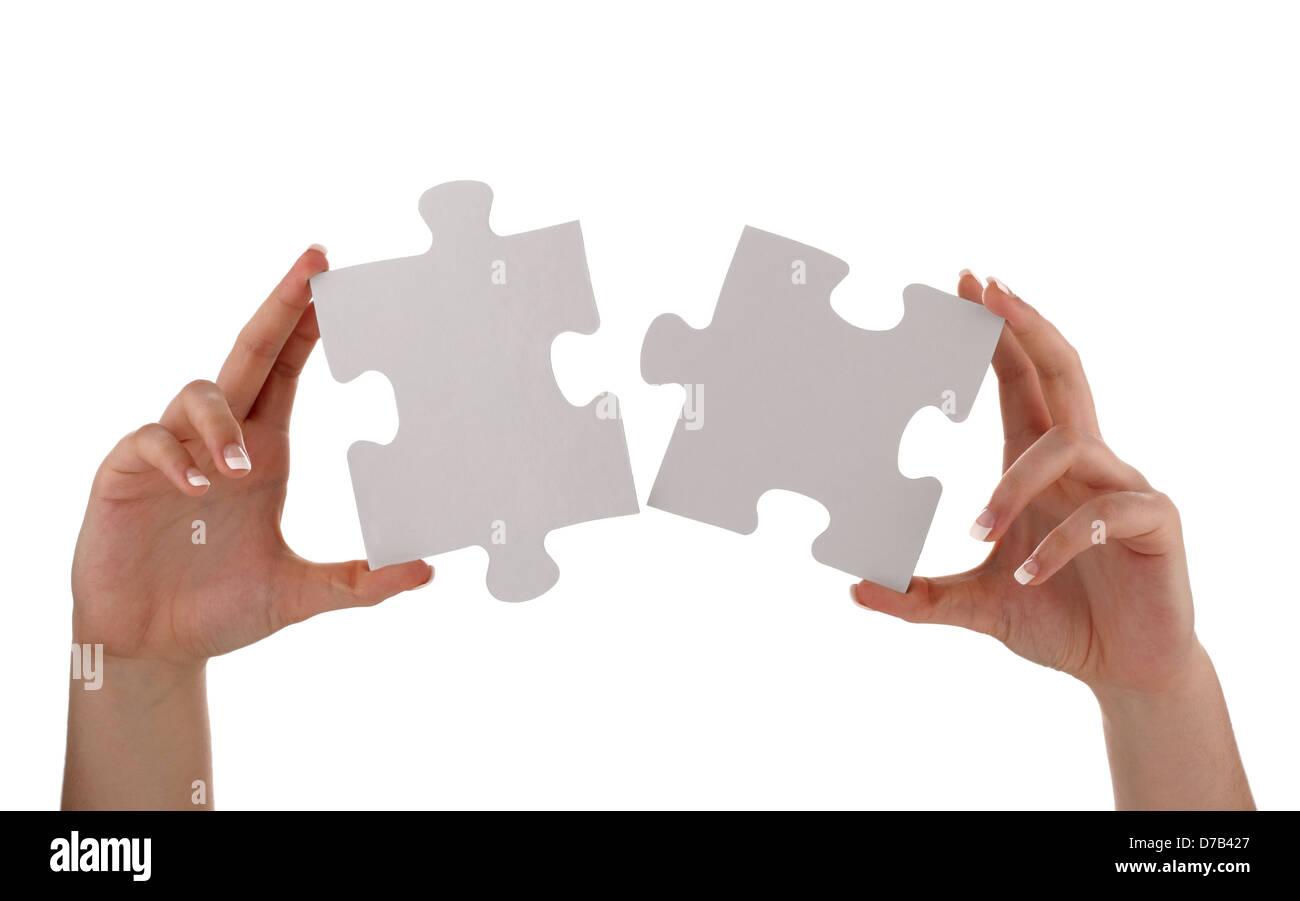 Pezzo del puzzle solution Immagini Stock