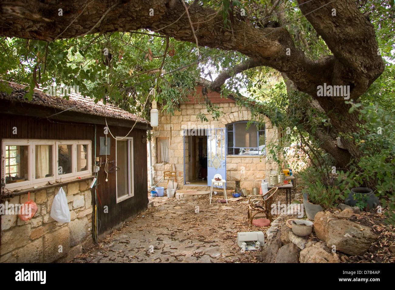 Casa in clil, Galilea occidentale Immagini Stock