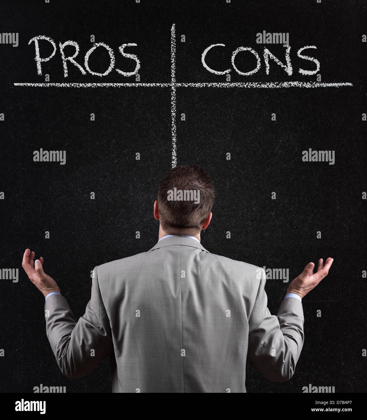 Pro e contro Immagini Stock