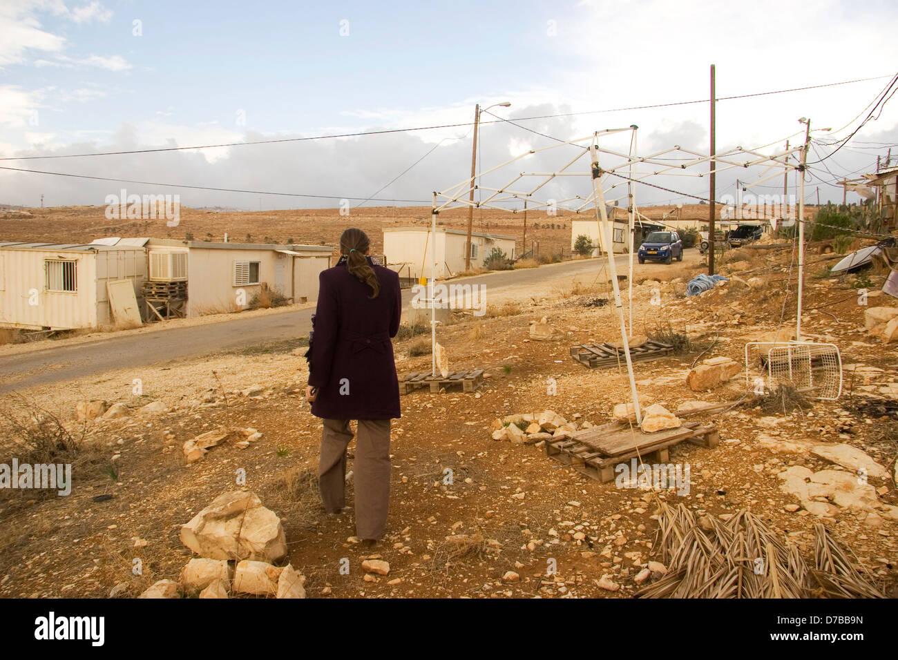 All'insediamento di Kfar Eldad Immagini Stock
