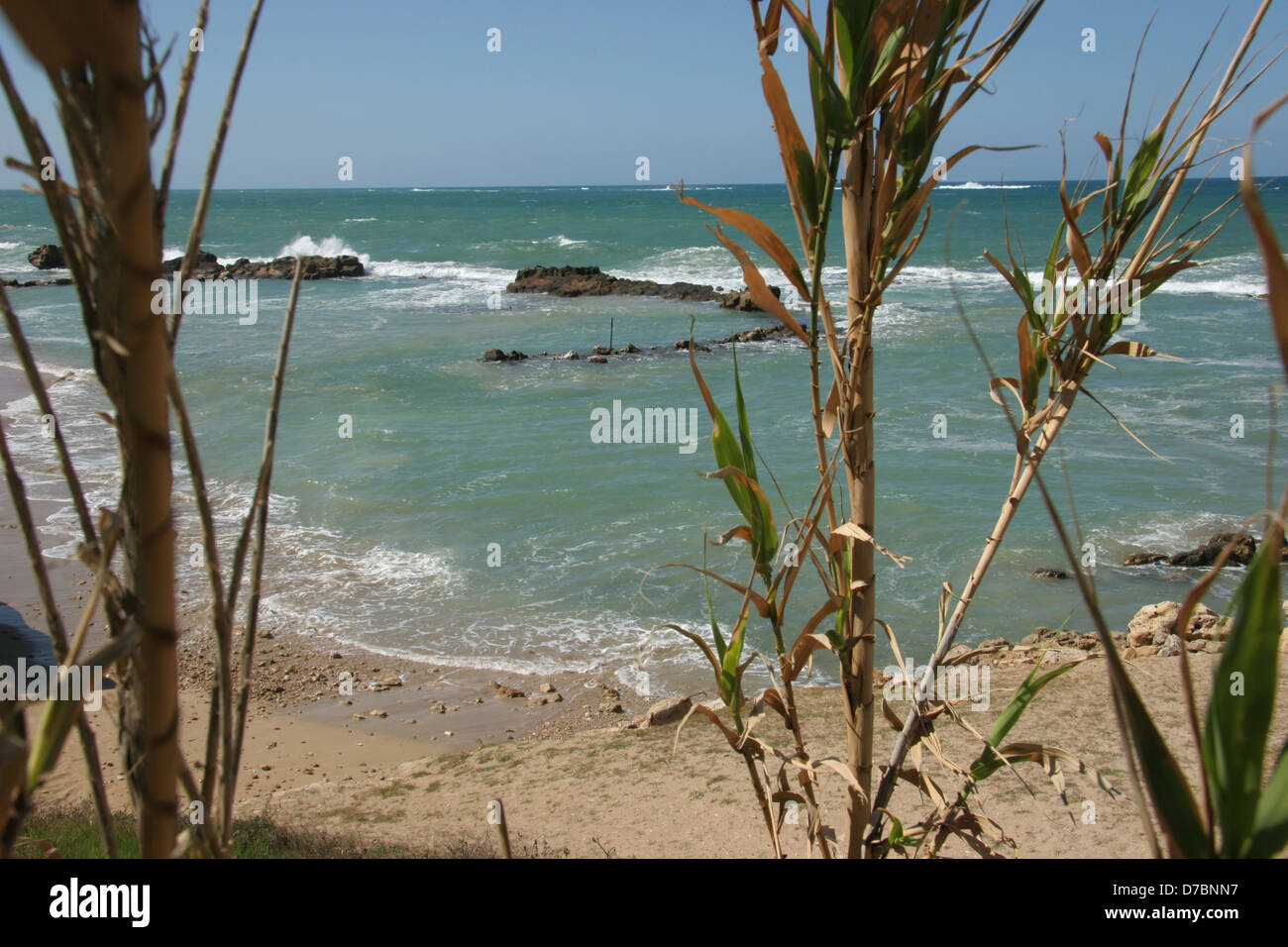 La località balneare di achzibland, Galilea occidentale Immagini Stock