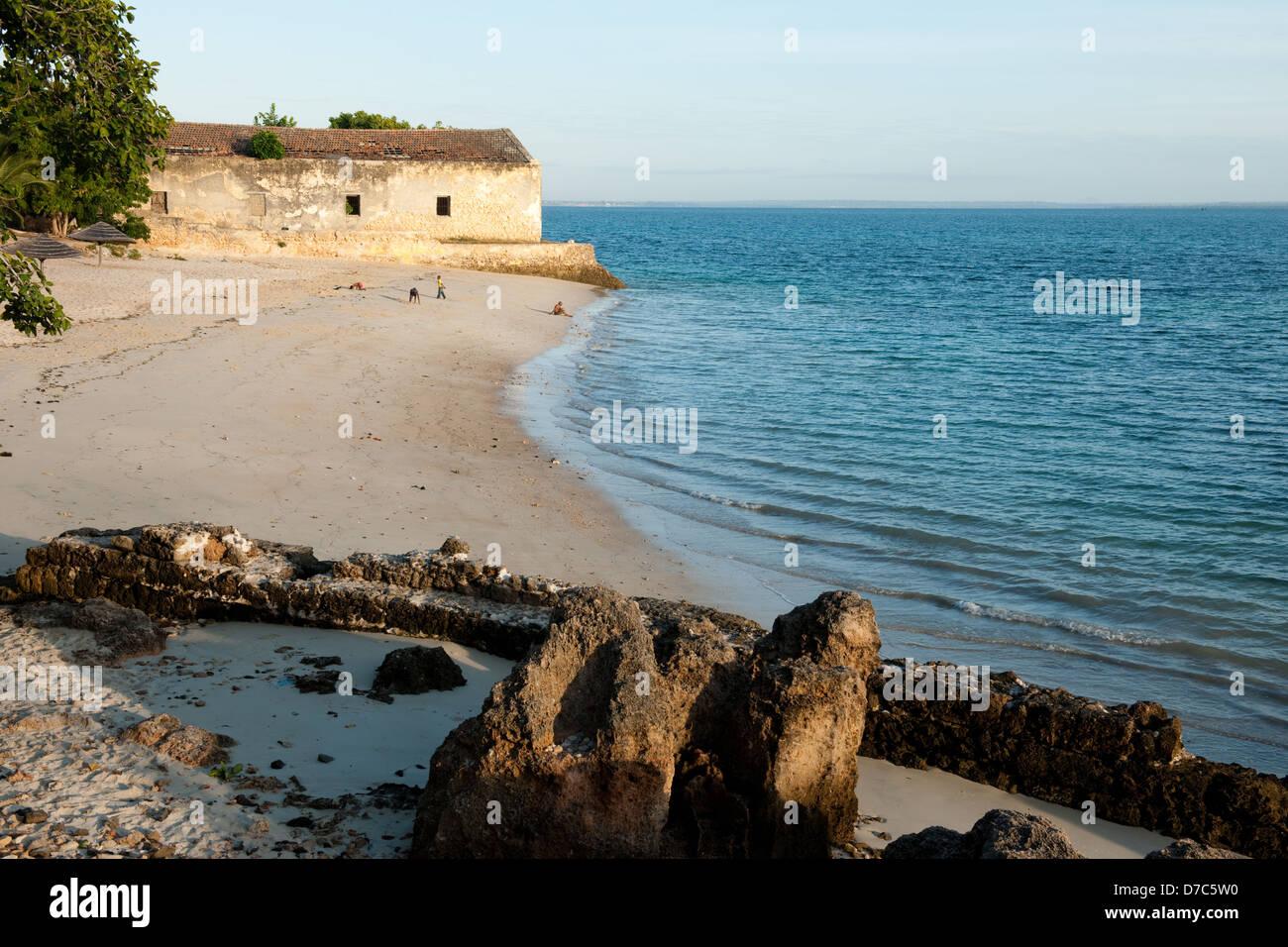 Spiaggia, Ilha do Mocambique, Mozambico Immagini Stock