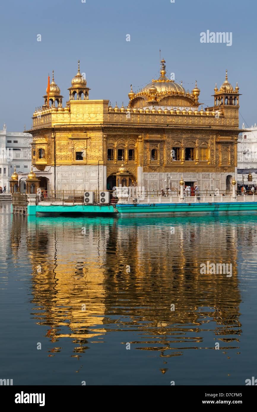 Gurdwara Sikh Tempio d'Oro (Harmandir Sahib). Amritsar Punjab, India Immagini Stock