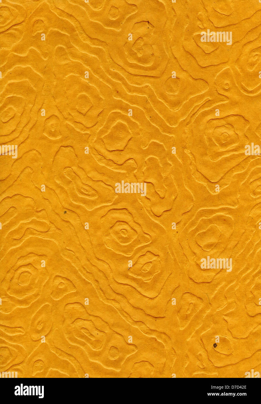 Scansione ad alta risoluzione arancione carta di riso motivo decorativo realizzato mandala anamorfici. Acquisite a 1200dpi utilizzando Epson professionale Foto Stock
