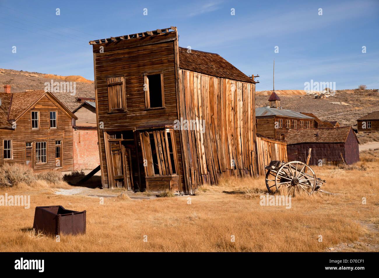 Città fantasma Bodie, California, Stati Uniti d'America, STATI UNITI D'AMERICA Immagini Stock