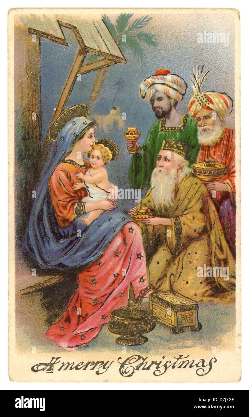 Cartoline Di Natale Vittoriane.Vintage Primi Del Novecento Cartolina Di Natale