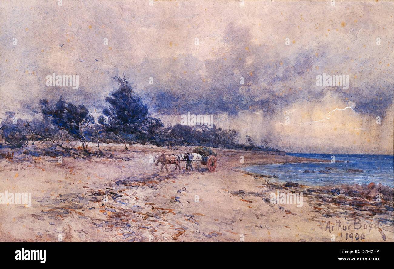 Arthur Merric Boyd, Untitled. 1900 acquerello. Galleria Nazionale dell'Australia, Canberra. Foto Stock