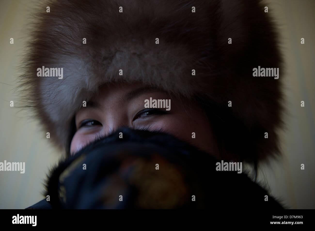 amoreggiare mongolo Immagini Stock