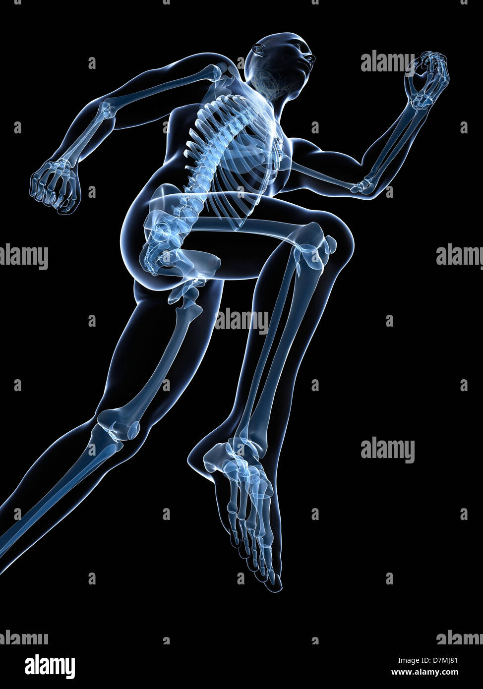 Esecuzione di scheletro, artwork Foto Stock
