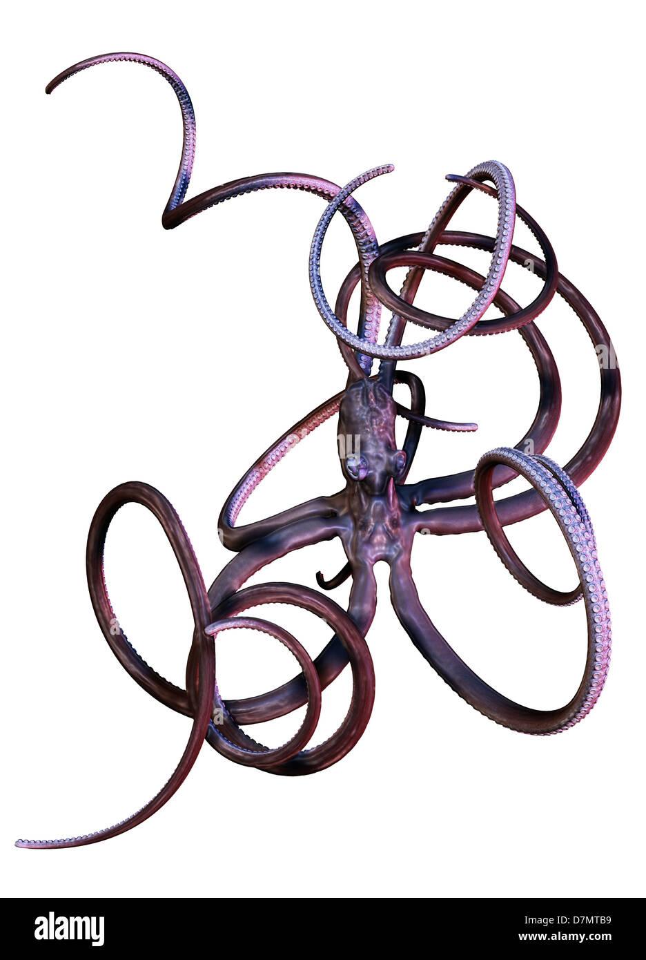 Il polpo, artwork Immagini Stock