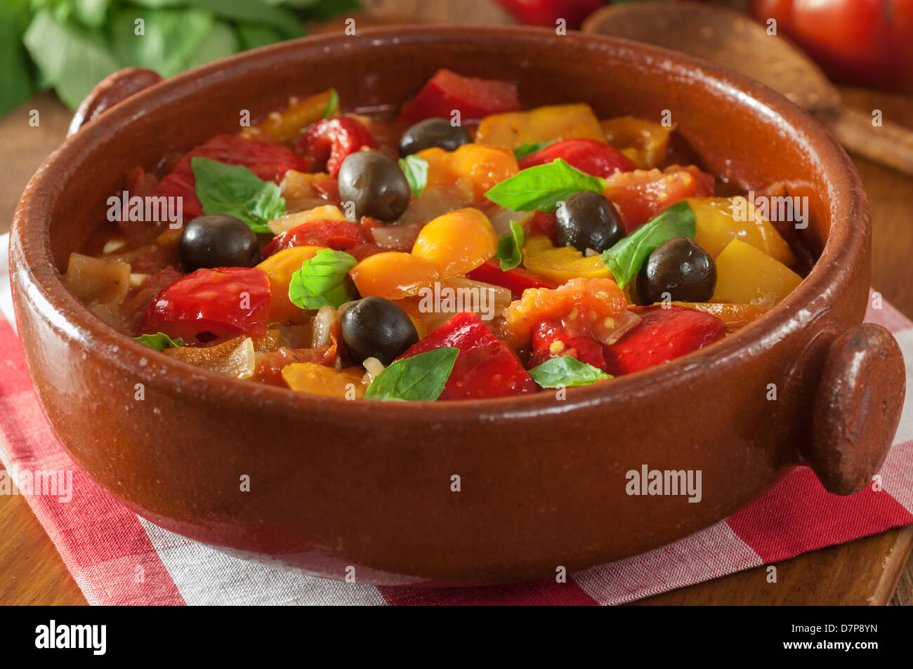 Peperonata italiano stufato di pepe Italia cibo Immagini Stock