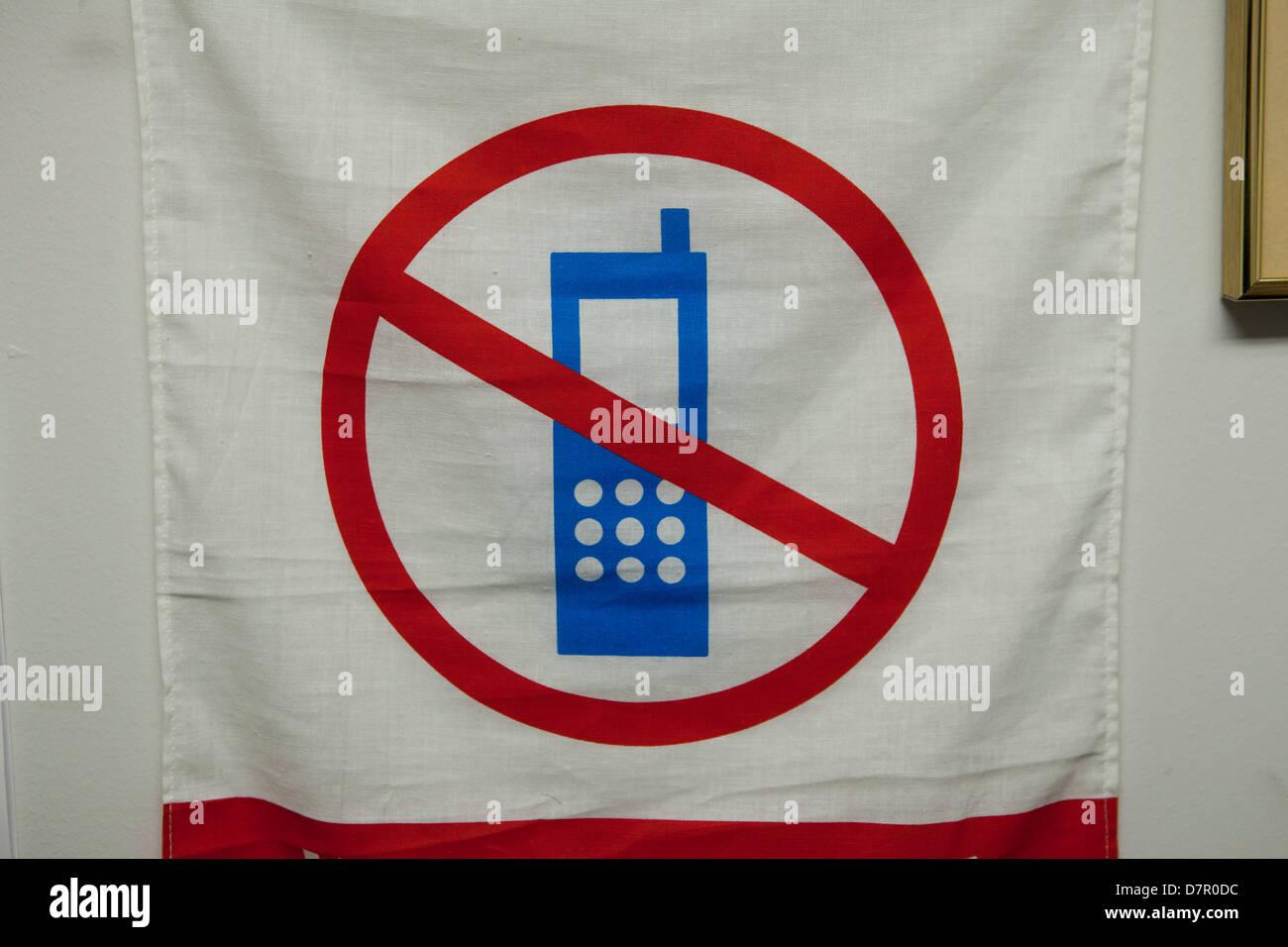 Nessun telefono cellulare utilizzare il segno Immagini Stock