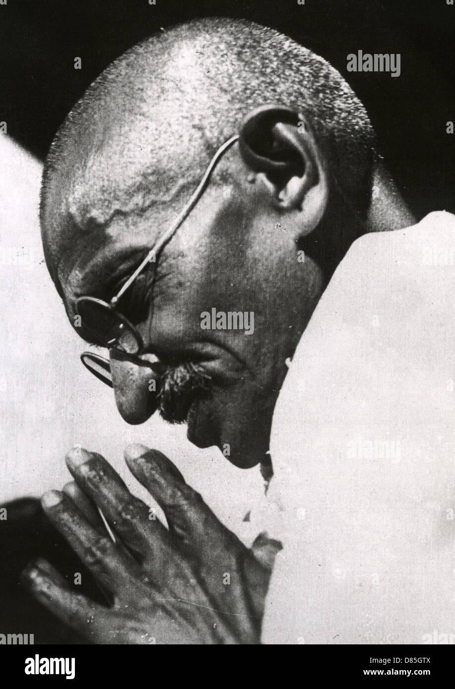 Il Mahatma Gandhi (1869-1948) indipendenza indiana leader Immagini Stock