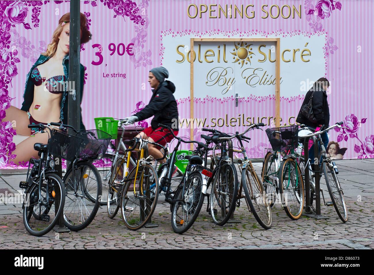 Francia Alsazia Strasburgo vita quotidiana Immagini Stock