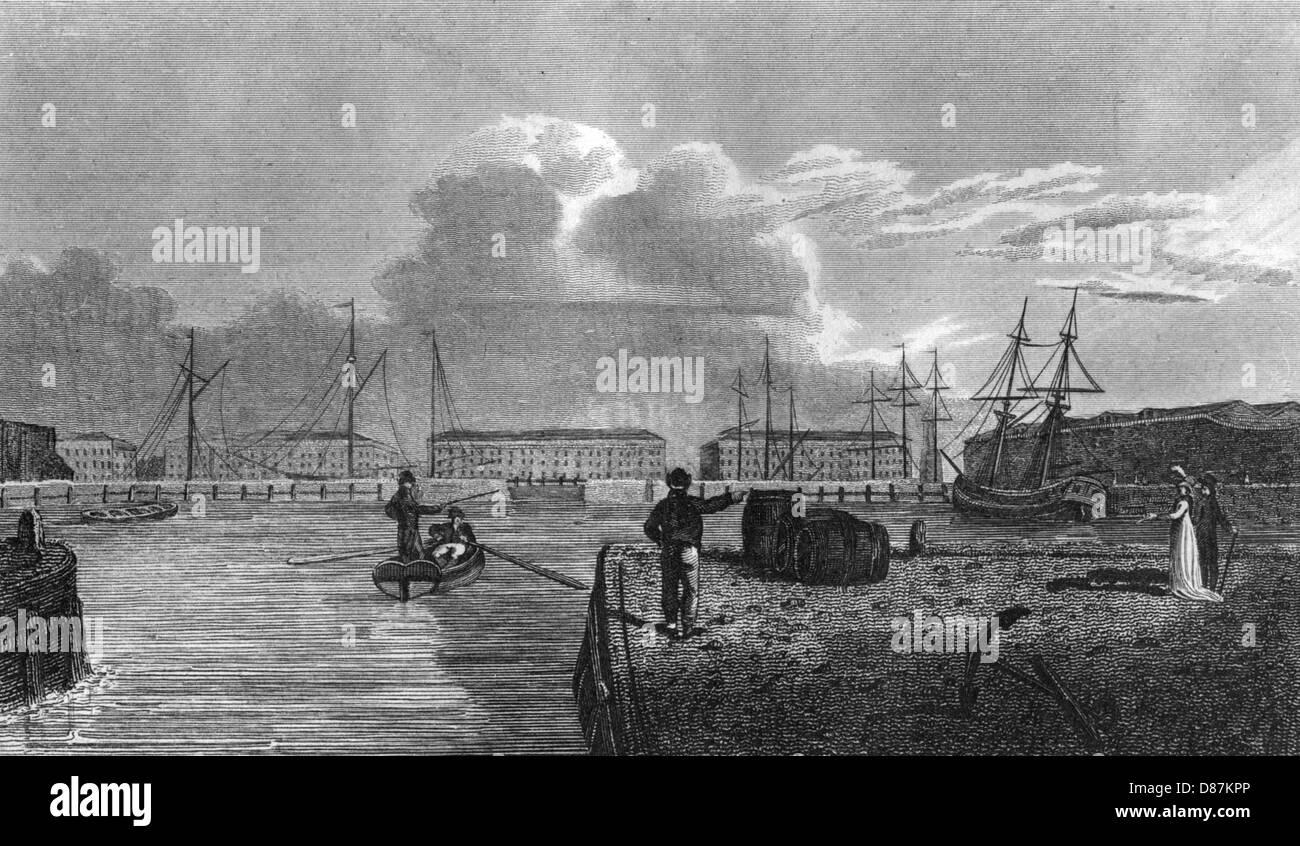 Docks Wapping 1800 Immagini Stock