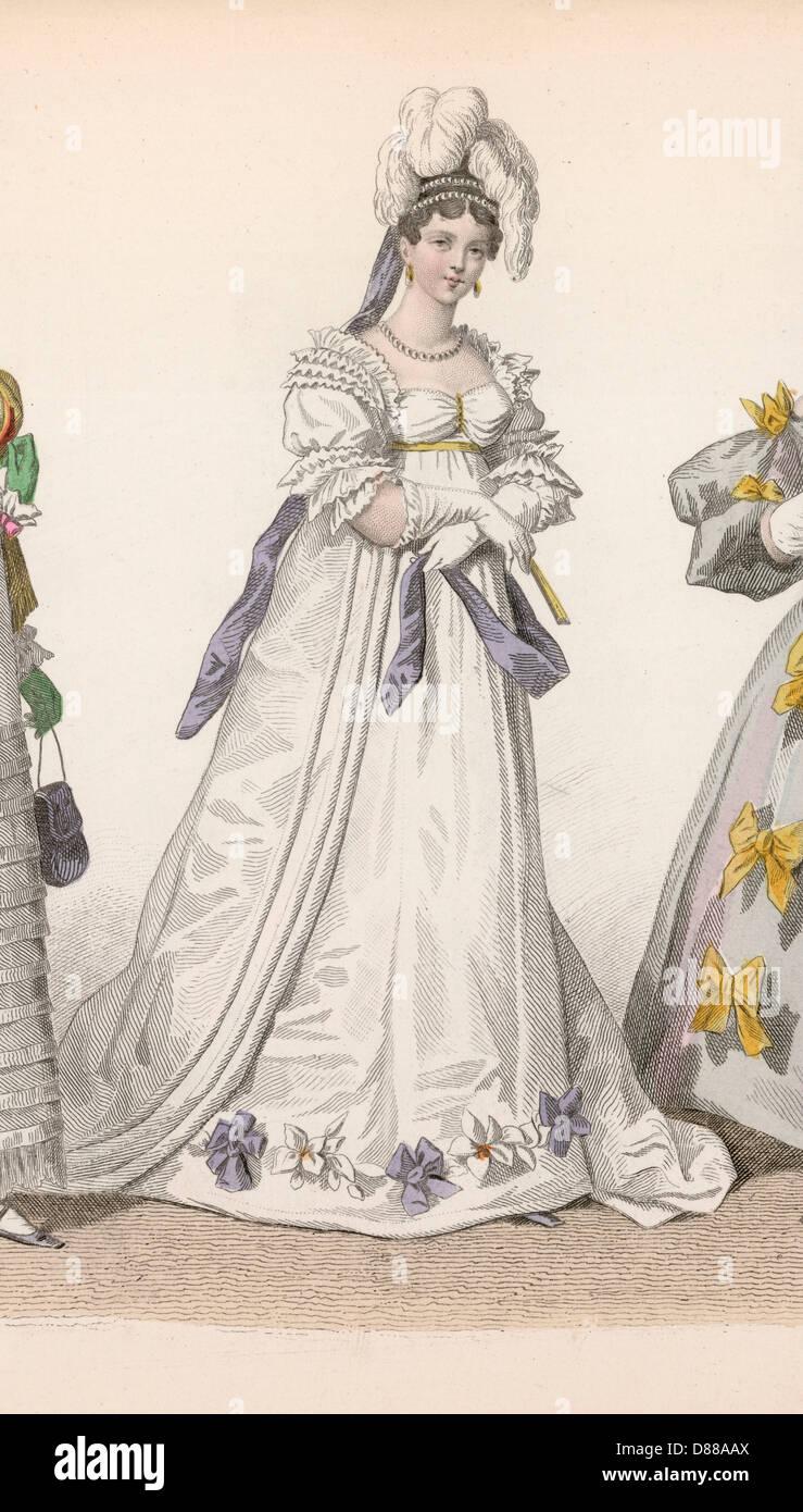 Storia della Moda 1815 Immagini Stock
