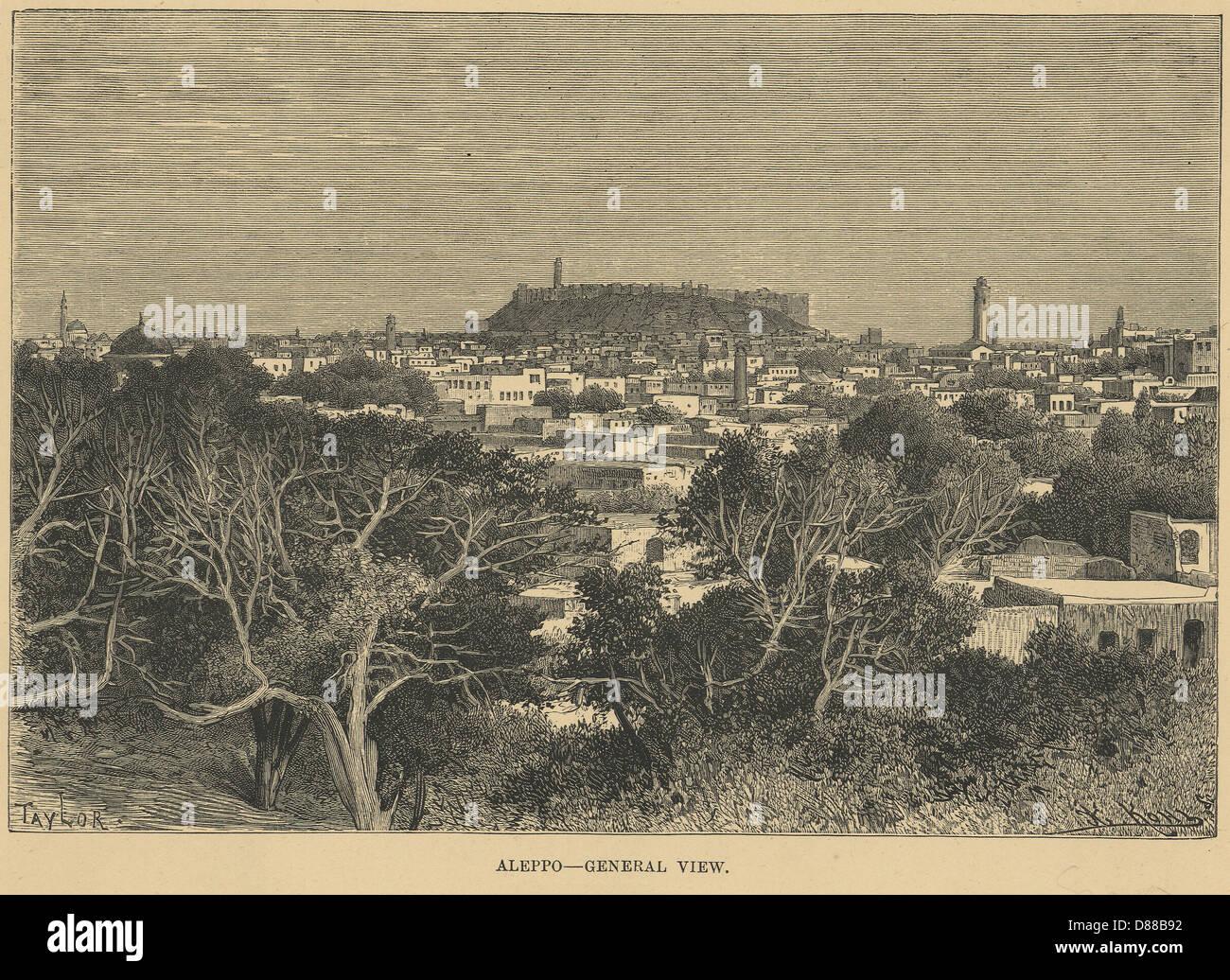 Aleppo Siria 1880 Immagini Stock