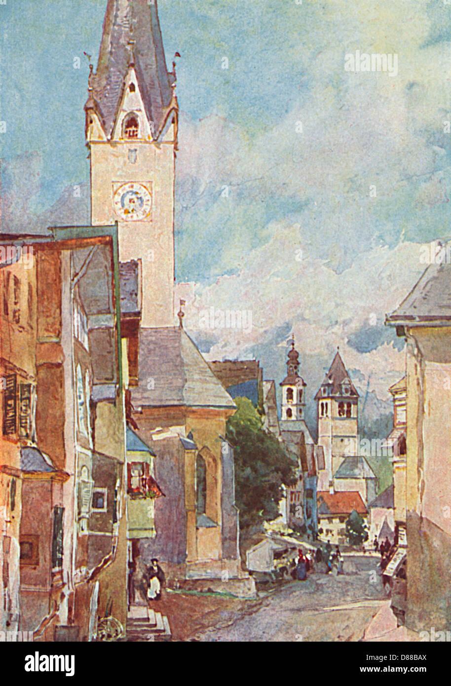 Austria Kitzbuhel 1931 Immagini Stock