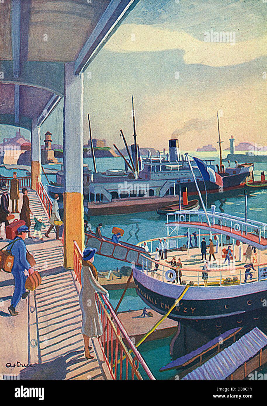 Porto di Marsiglia 1931 Immagini Stock