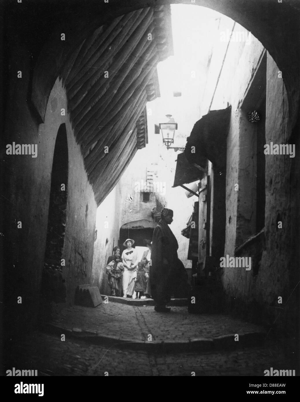 Casbah di Algeri 1910 Immagini Stock