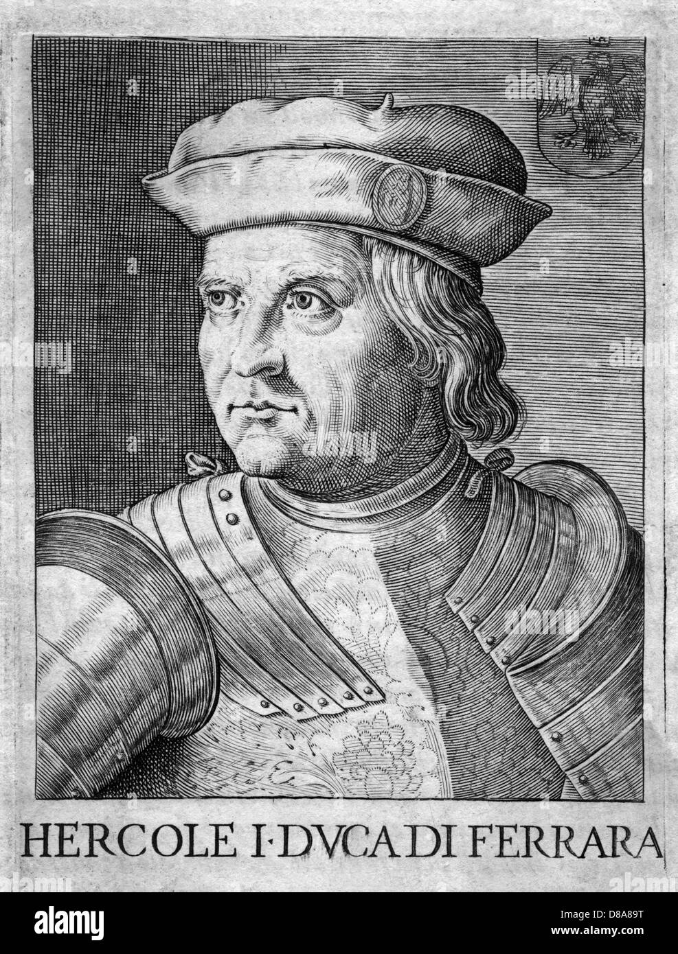 Ercole Duca di Ferrara Immagini Stock