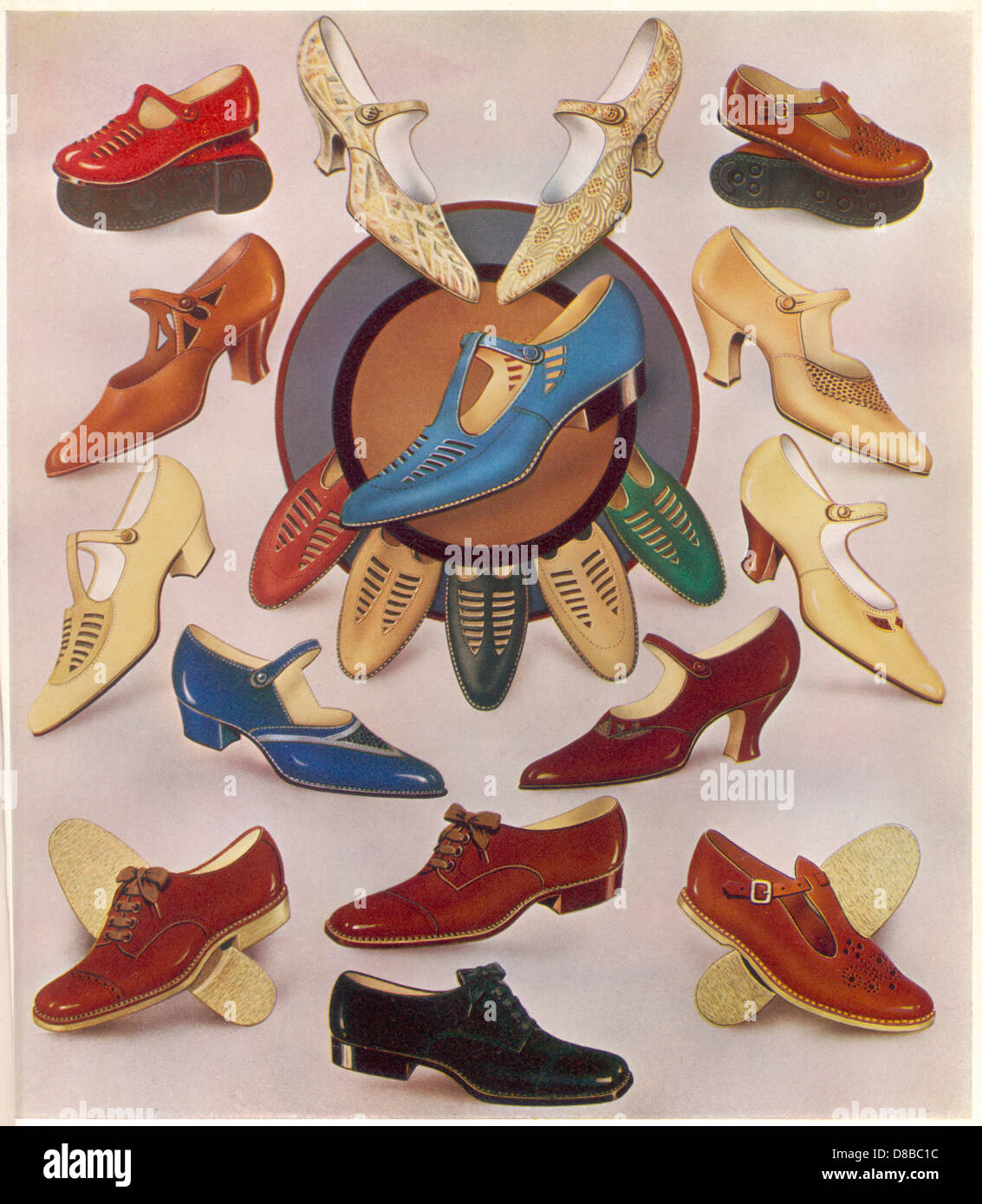 Scelta di scarpe 1930 Immagini Stock