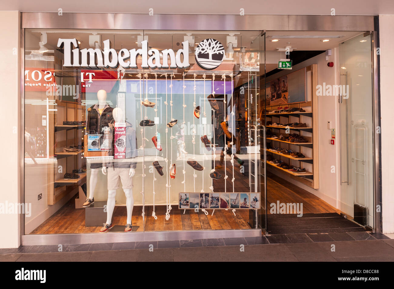 La Timberland shop store in Cambridge, Inghilterra, Regno