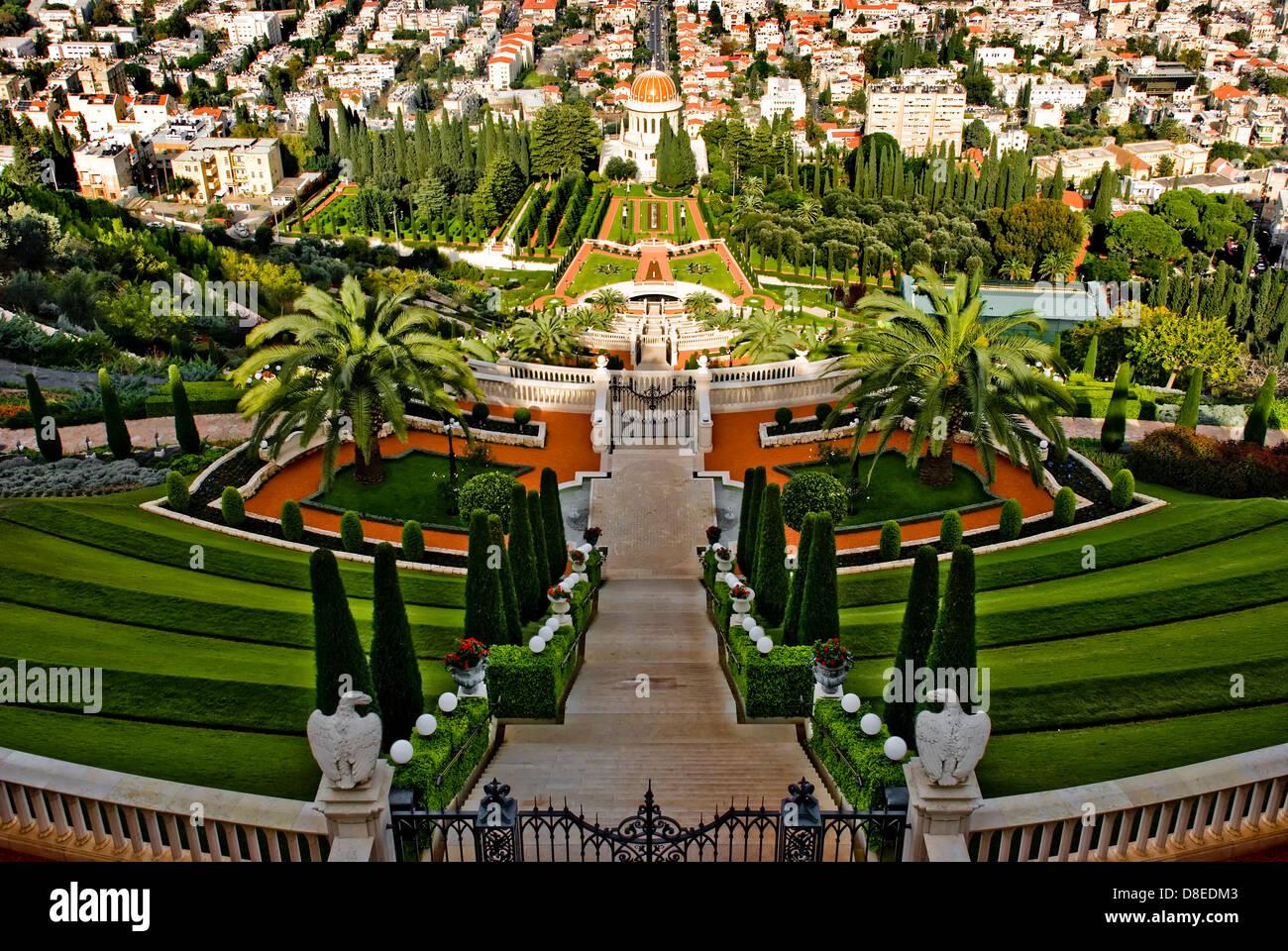 I Bahai Santuario,i giardini terrazzati Foto & Immagine Stock ...