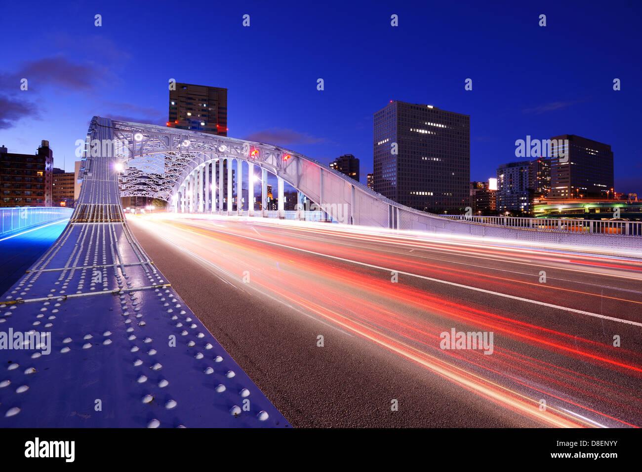 Ponte in Tokyo, Giappone. Immagini Stock