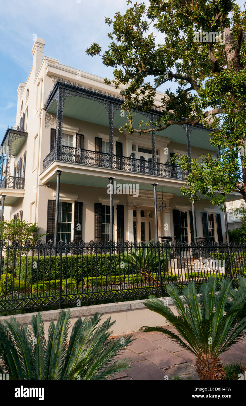 Anne Rice Home nel Garden District di New Orleans in Louisiana, casa del famoso scrittore vampiro Immagini Stock