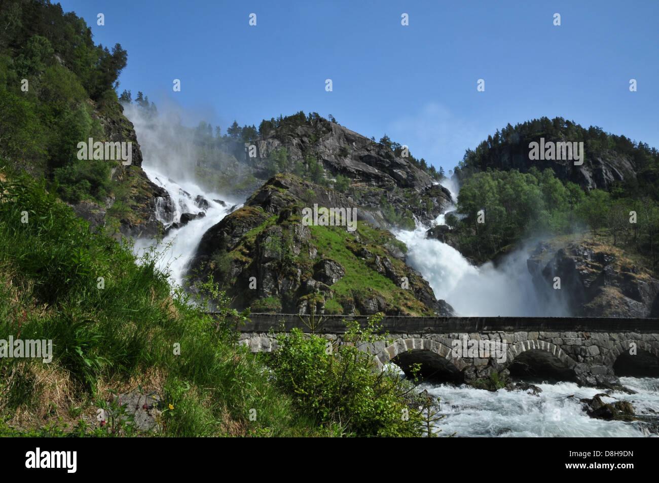 Fine Fossen cascata Foto Stock